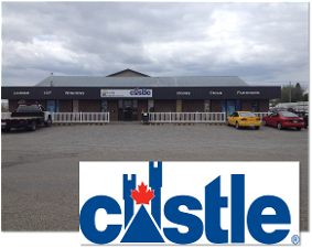 Store Front with Authorized Dealer Castle Logo